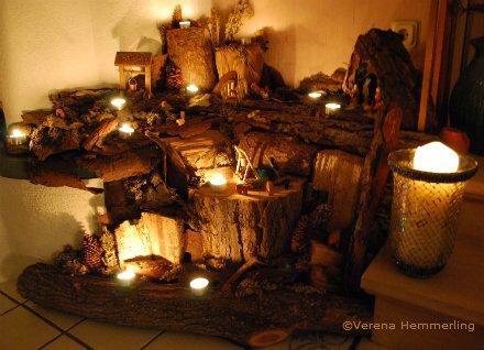 weihnachtliche dekorationen die einzigartige krippe. Black Bedroom Furniture Sets. Home Design Ideas