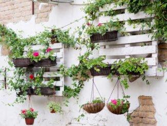 Alternative Blumentopfhalterung