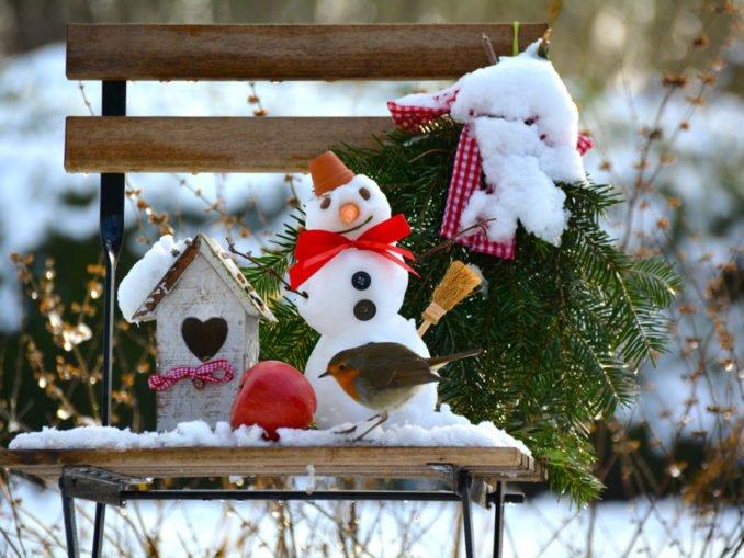 Gestaltung des Gartens im Winter