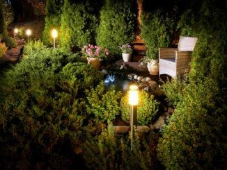 Strommanschluss im Garten