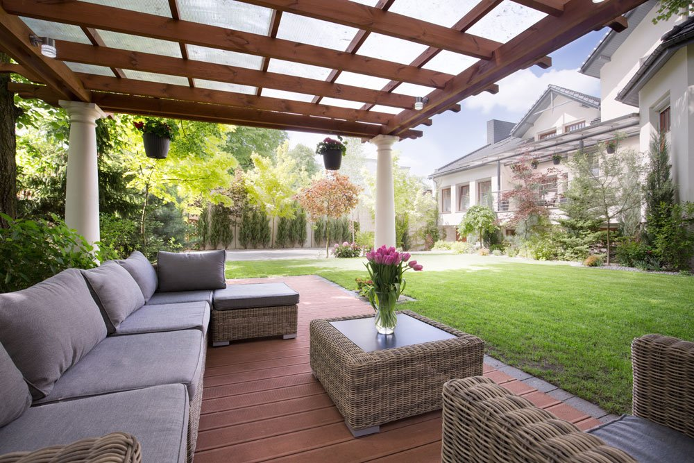 Terrassenmöbel polyrattan hell  Terrassen als Hort der Gemütlichkeit