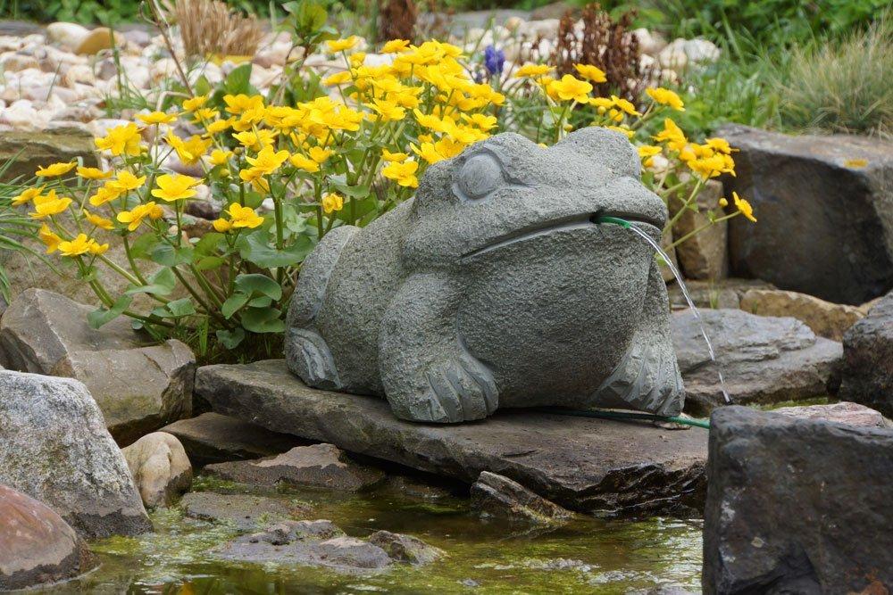 Gartendeko Brunnen Frosch