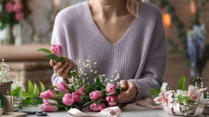 Blumenkranz Tulpen