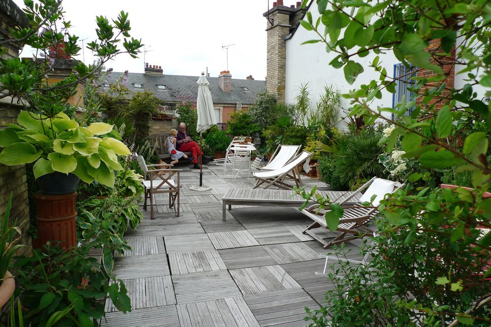 Dachterrasse Pflanzen