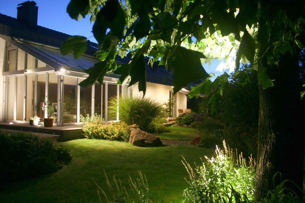 Abendgarten Beleuchtung